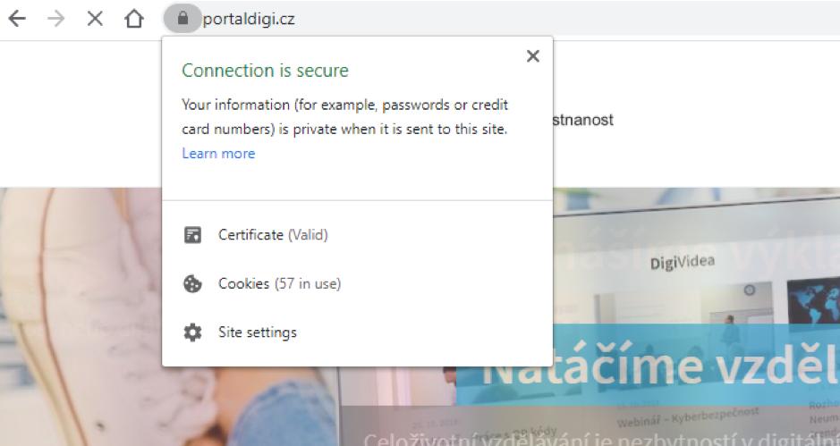 Certifikát HTTPS na PortalDigi.cz